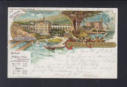 Italien Italia Litho-AK Grignano 1899 - Trieste (Triest)