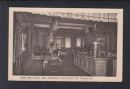 Dt. Reich AK Bad Nauheim Cafe Absmann 1922 - Bad Nauheim