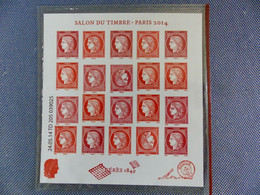 F4871  BLOC CERES 1849 Avec Tête Bêche Salon Du Timbre 2014 Impression Décalée    Rare  NEUF ** - Variétés: 2010-.. Neufs