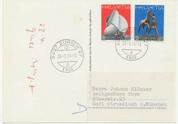 SCHWEIZ 1974 Europa Skulpturen. Echt Gelaufene FDC Und Maximumkarte Der 30 (C.) - FDC