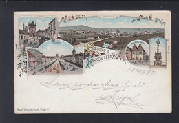 Tschechien Litho-AK Rakovnik 1897 - Tschechische Republik