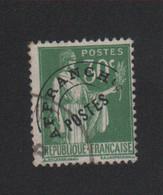 Faux Préoblitéré N° 69, 30 C Paix Oblitéré - 1893-1947