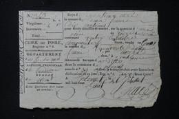 FRANCE -  Reçu ( Acquis)  De Droit De Transport De CIdre Ou De Poiré En 1808 - L 87975 - Collezioni