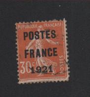 Faux Préoblitéré N° 35, 30 C Semeuse Poste France 1921 - 1893-1947
