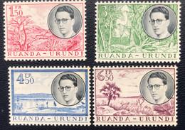 Ruanda- Urundi - T2/5 - MNH - 1955 - Michel 152#155 - Koning Baudewijn En Landschappen - Cat € 25,00 - 1948-61: Neufs