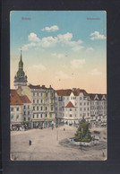 Tschechien AK Brünn Krautmarkt 1915 Zensur - Tschechische Republik