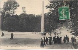 77 - FONTAINEBLEAU L'Obélisque Animée écrite Timbrée - Fontainebleau