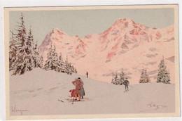 Wengen - Wintersports - Sign. Pellegrini - Ed. Vouga, Geneva - N.W 3       (A-299-200905) - Otros Ilustradores