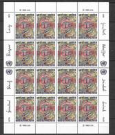 ONU Genève Feuilles N°117 Et 118 X 20 Droits De L'Homme Neufs * * TB =MNH VF Soldé Au Prix De La Poste En 1983  ! ! ! - Cartas