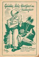 Nederlands Indië - 1948 - Kerstkaart Van Luchtvaart Troepers 1e Compagnie - Veldpost Batavia Naar Elburg / Nederland - Indes Néerlandaises