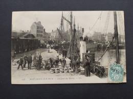 Boulogne Sur Mer - Le Quai Du Bassin, Train / Timbre Et Cachet - Boulogne Sur Mer