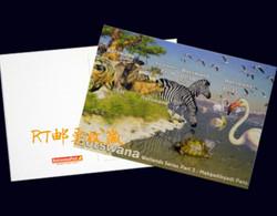 Botswana 2002 Postal Card Postcard Wetlands The Makgadikgadi Pans Wildlife Wild Animals Fauna Birds Bird Zebra Taurinus - Botswana