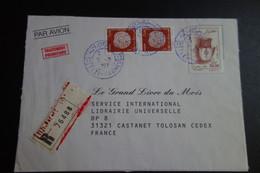 Lettre En Recommandée De TIZIRACHER - Storia Postale