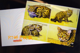 Botswana 2005 Postal Card Postcard Endangered Species Black-footed Cats Animals Fauna Wildlife Wild Nature WWF W.W.F. - Botswana