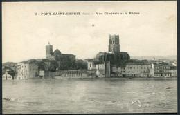 Pont-Saint-Esprit - Vue Générale Et Le Rhône - N° 5 LB Dijon  - Voir 2 Scans - Pont-Saint-Esprit