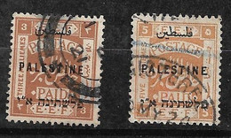 Palestine   N° 28 Et 30  Oblitérés B/TB    Voir  Scans  Soldé ! ! ! - Palästina