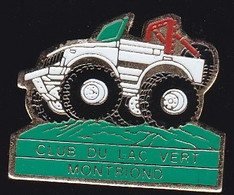 69661-Pin's. Club Du Lac Vert à Montriond, Près De Morzine.Moto.4X4 - Motorfietsen