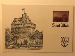 35 - SAINT MALO - CPM 1977 Illustrée Par Touleron - Chateau De La Duchesse Anne Avec Diapositive - Saint Malo