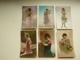 Beau Lot De 60 Cartes Postales De Fantaisie Femmes Femme   Mooi Lot Van 60 Postkaarten Fantasie Vrouwen Vrouw - 60 Scans - 5 - 99 Karten