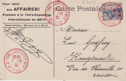 "FRANCE :  OBL  "" 3 E FOIRE EXPO METZ "" . 1930 . - Tijdelijke Stempels"