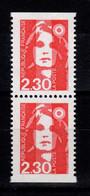 YV 2629a N** Paire Verticale De Carnet, Timbres Non Dentelès Sur 1 Côté - Unused Stamps