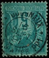 -Sage N°75 Type II  Ob  ( CAD  ) ARCIS-S-AUBE  JOURNAUX 1891. - 1876-1898 Sage (Tipo II)