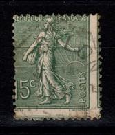 Piquage Très Dècalé , 4 Timbres Visibles Sur Semeuse YV 130 , Leger Manque De Fraicheur Au Verso - 1903-60 Sower - Ligned