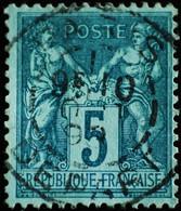 -Sage N°75 Type II  Ob  ( CAD  ) PARIS DEPART 1898 - 1876-1898 Sage (Type II)