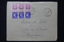 ALGÉRIE - Enveloppe De Oran Pour La France En 1946, Affranchissement Mazelin Et Chaînes Surchargés - L 87998 - Covers & Documents