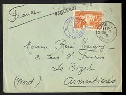 """Côte D'Ivoire N°86 OBL Cachet Violet """"Paquebot Banfora Service Postal""""+CAD """"Marseille Bches Du Rhone""""+griffe """"""""paquebot"""" - Posta Marittima"""