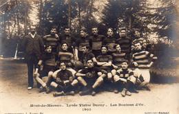 CARTE-PHOTO De L'équipe De Rugby Du Lycée Victor Dupuy - Les Boutons D'or En 1905. - Mont De Marsan