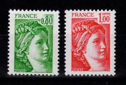 YV 1970c & 1972c  - Gomme Tropicale , Sans Bande Phosphorescente , N** - 1977-81 Sabine Of Gandon