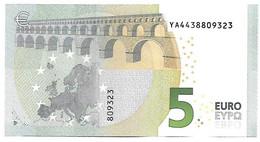 (Billets). 5 Euros 2013 Serie YA, Y005B2 Signature 3 Mario Draghi N° YA 4438809323 UNC - 5 Euro