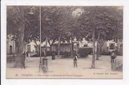 CP ALGERIE Place D'Alger Et Monument Du Général Cavaignac - Tlemcen