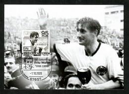 BRD 2020  Mi.Nr. 3568 , 100. Geburtstag Von Fritz Walter - Maximum Card - Kaiserslautern  -1.10.2020 - Maximum Cards