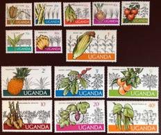 Uganda 1975 Crops Set Fruit Flowers Plants MNH - Zonder Classificatie