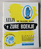 Menuboekje Azijn - 't Zurz Boekje - Menükarten