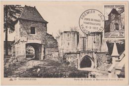 FRANCE 1952 CARTE MAXIMUM 1er Jour Vaucouleurs Porte De France N°YT 921 Cachet 1er Jour Vaucouleurs 11.5 1952 Ed. CAP - 1950-59