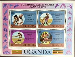 Uganda 1978 Commonwealth Games Minisheet MNH - Uganda (1962-...)