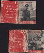 2 Mini Livre Des Führers Kampf In Frankreich Kampf In Holland Hitler Nazi SS III Reich Au Bénéfice Croix Rouge Allemande - Sonstige