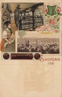 Carte Chocolat Suchard Saint Gall - Reclame