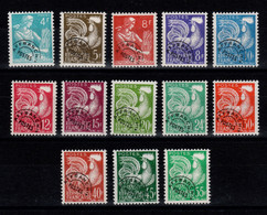 Preobliteres - YV 106 à 118 N** Cote 110 Euros - 1953-1960
