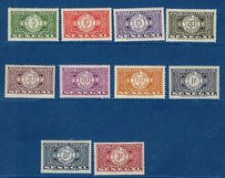 """Senegal Taxe YT 22 à 31 """" Série Complète """" 1935 Neuf**/* - Postage Due"""