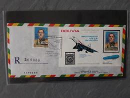 Lettre Recommandée Concorde Bolivie  R - Concorde
