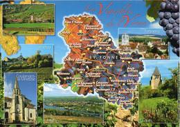 Carte Géographique - 89 Les Vignobles De L'YONNE. Irancy, Vézelay, Coulanges-la-Vineuse, Tonnerre, Chablis, Multi Vues - Landkaarten