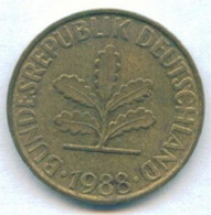 1988 - GERMANIA - MONETA DEL VALORE DI: 10 PFENNIG - USATA - 10 Pfennig