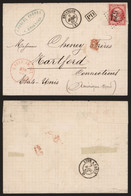 France 1867 - Lettre Biançon Vers Hartford USA - 1862 Napoleon III