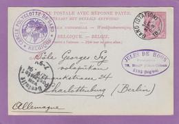 CERCLE POLYGLOTTE DE GAND. ENTIER POSTAL ADRESSÉ A UN VOLAPÜKAN A CHARLOTTENBURG. - Postcards [1871-09]