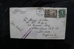 Canada C1 Airmail + 18 KGV 2c On Cover To US From Banff Minor Tears 1931 A04s - Posta Aerea