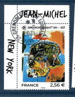 France 2021.issu De La Mini Feuille Basquiat..Cachet Rond Gomme D'origine. - Used Stamps